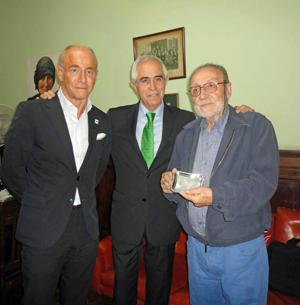 Santiago Camba, Aurelio Miras Portugal y Francisco Lores.
