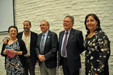 Rosario Álvarez, Henrique Monteagudo, Carlos Zubillaga, Carlos Jones y Ana Lorenzo.