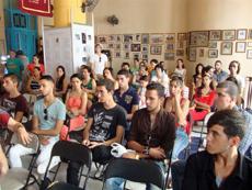 Jóvenes descendientes que se incorporaron a la Colonia Zamorana de Cuba.