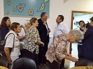 Cándido Padrón en la Asociación Canaria Zona Norte de Buenos Aires.