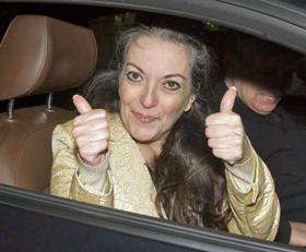 María José Carrascosa ya libre.