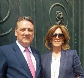 Alfredo Prada y Mª Carmen de la Cal.