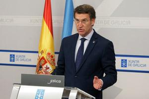 Feijóo en la rueda de prensa tras la reunión del Ejecutivo gallego el pasado día 7.