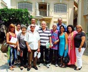 Participantes en el encuentro riojano-cubano.