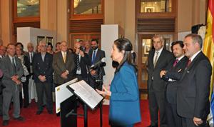 Intervención de Pilar Rojo en la inauguración de la exposición.