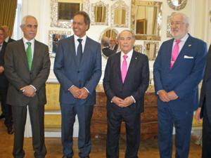 Miras Portugal, Daniel Scioli, Florencio Aldrey y Estanislao de Grandes.
