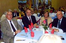 Manuel Ramos, de Casa de Galicia, Roberto Varela, Esperanza Pereira y Manuel Fairén.
