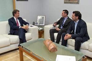 Alberto Núñez Feijóo, Roberto González Pérez y Antonio Rodríguez Miranda.
