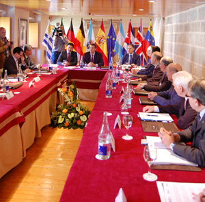 Un momento de la jornada de clausura de reunión de la Comisión Delegada, presidida por Alberto Núñez Feijóo.