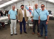 Rodríguez Miranda con directivos de algunas entidades gallegas en Madrid.