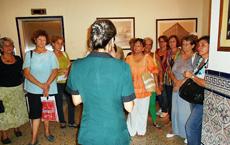 Un momento de la visita guiada al Hotel Sevilla.