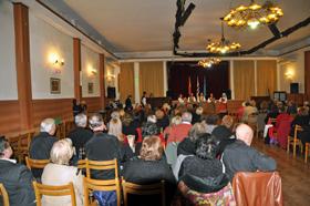 Vista del acto organizado con motivo del Día de las Letras Asturianas.