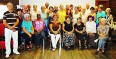 Directivos y asociados del Círculo Salense de La Habana.