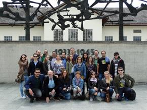 En el campo de Dachau.
