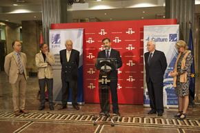 Diego Marani, José María Lassalle, José Manuel García-Margallo, Rafael Rodríguez-Ponga, Víctor García de la Concha y Annika Rembe.