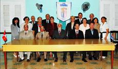 En la foto, al centro y sentado, el presidente, José López Botello con su ejecutivo social.