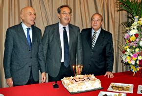 Manuel Fairén, Andrés González y Víctor Moldes.