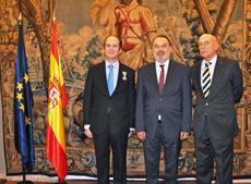El cónsul Juan Lugo, el embajador Roberto Varela y el cónsul general Manuel Fairén.