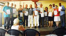 Directivos de las sociedades colaboradoras que fueron galardonadas.