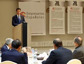 José Manuel Soria asistió a un desayuno con la Asociación de Empresarios Españoles en Cuba.