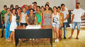 Los participantes en el curso de formación.