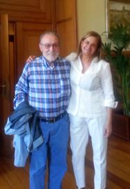 Francisco Lores con Carmela Silva.