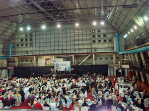 Cientos de personas participaron de la cena celebrada en la sede social del Centro Galicia de Buenos Aires.