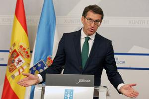 El presidente de la Xunta, Alberto Núñez Feijóo, compareció tras el Consello para explicar las medidas adoptadas.
