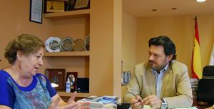 Imagen del encuentro entre Rodríguez Miranda y González Moreno.