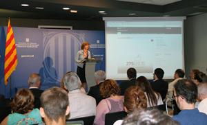 La consellera de Gobernación, Meritxell Borràs, en una anterior comparecencia sobre el proceso electoral.