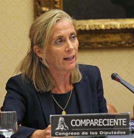 Marina del Corral explicó los presupuestos de su departamento en el Congreso.