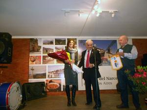 El presidente de la institución agasajó a la nueva cónsul adjunta, Silvia Cosano.