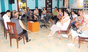 Un momento de la conferencia sobre salud bucal en el Club Villarino.