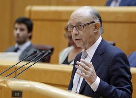 Cristóbal Montoro en el Senado.
