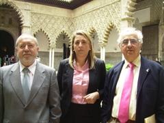 Antonio Rodríguez Galindo, Cristina Blázquez y Gonzalo Martín Domínguez.
