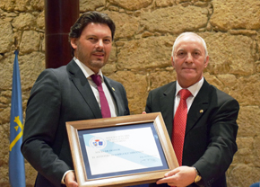 Rodríguez Miranda fue nombrado socio de honor.