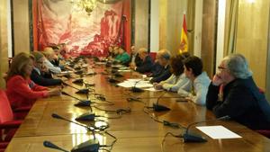 Reunión de los miembros de la Coordinadora con los representantes de los grupos parlamentarios.