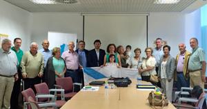 Con la directiva y algunos socios de la Casa de Galicia en Alcorcón.