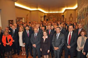 Auditorio presente en la fiesta por el Día de España en la Embajada en Montevideo.