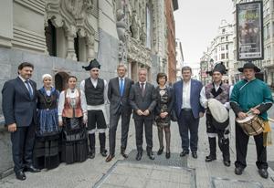 Rodríguez Miranda, Alfonso Rueda, Iñigo Urkullu, Pilar Rodríguez y Juan Mª Aburto.