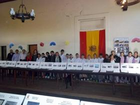 Los alumnos de la Escuela Nº 2 visitaron la muestra.
