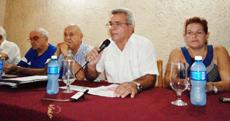 René González Barrios en un momento de la conferencia.