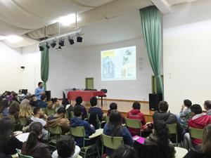 Una vista del salón de actos durante la conferencia.