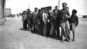 Imagen antigua del campo de concentración de Rivesaltes.
