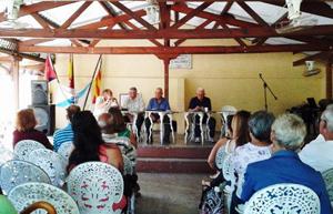En el Centro Balear: Longinos Valdés, Felipe Cid, Roberto Ogando y Manuel Álvarez.