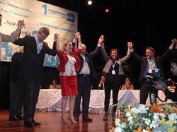 Alfonso Rueda, Ana Pastor, Felisindo López, Cristina Tavío y Alfredo Prada en el Congreso del PP en Venezuela.