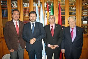 Juan Espadas, Antonio Rodríguez Miranda, Antonio Patiño Gacio y Alfredo Otero.