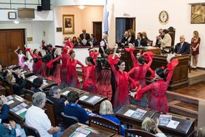 Acto celebrado en el Palacio Vasallo.
