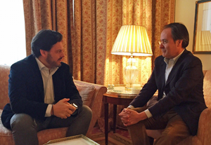 Entrevista con el embajador española en Suiza, Bernardo de Sicart.