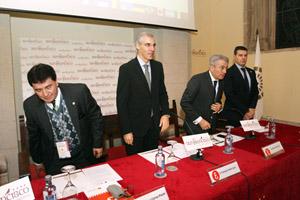 Francisco Conde (2º por la izq.) en el seminario internacional de Cilea.